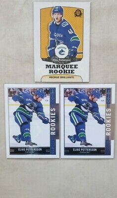 2018-2019 Upper Deck Series 2 Elias Pettersson Assorted Lot Of 3 Rookie Cards