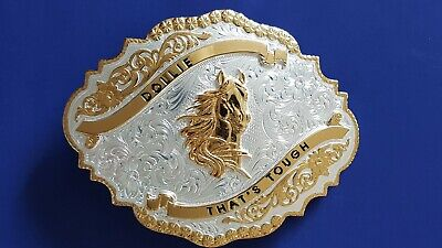 Montana Silversmiths Belt Buckle Silver & Gold Plated Over Nickel - New.