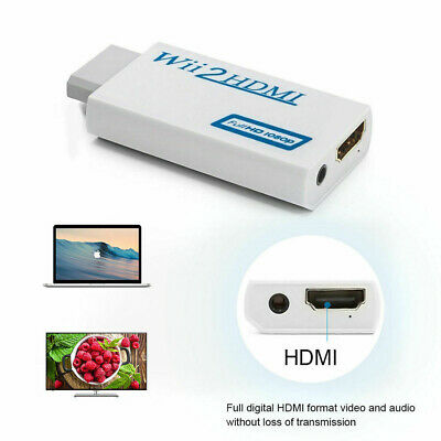 Video Converter Wii to HDMI Full HD Portable for Nintendo 1080P HDTV Adapter Wii