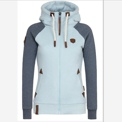 Women Winter Zipper Jumper Tops Hoodies Hooded Sweatshirt Pullover Coat Jacket