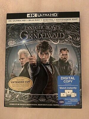 Fantastic Beasts The Crimes of Grindelwald 4K Blu-ray Digital +Slip Brand NEW