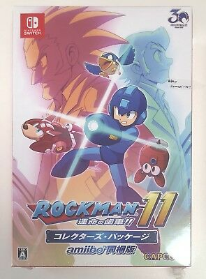 Rockman 11 Collector's Package Nintendo switch amiibo Megaman game Fate US Ship