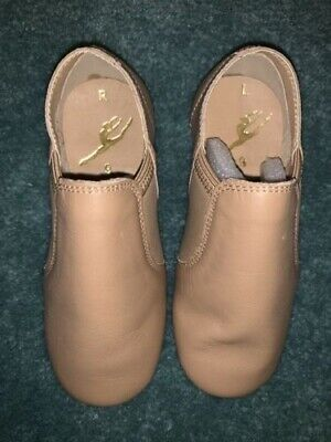 Energetiks Tan Jazz Shoes Child's Size 9 Brand New In Box