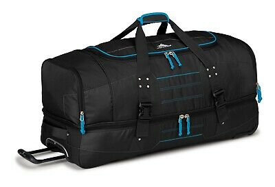 High Sierra Ultimate Access 91cm Wheeled Duffle with Backpack Straps Black/Blue