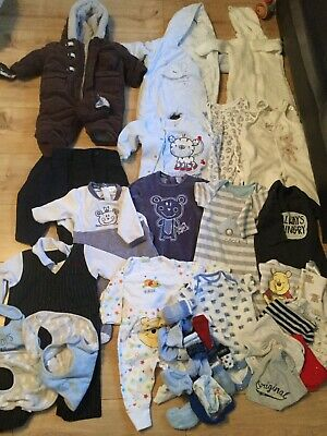 Bundle Of Baby Boys 0-3 Month Clothes
