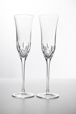 Waterford Crystal Lismore Essence Champagne Flutes, Set of 2 - Beautiful!