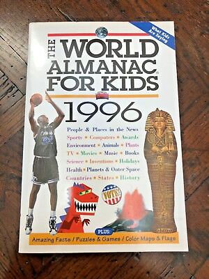 The World Almanac For Kids 1996 - Great Condition