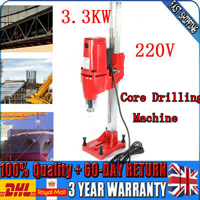 3300W Wet Core Drilling Rig Machine Max 165mm 220V Stand Core Press Drill Red