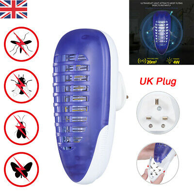 Electric UV Mosquito Killer Indoor Insect Fly Bug Pest Plug in Trap Zapper Lamp