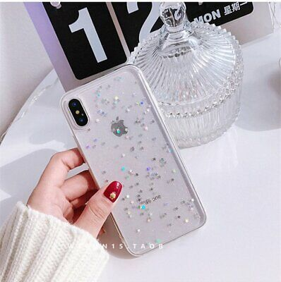 For iPhone 8 Plus 7 6 XS Max XR Bling Glitter Sparkly Soft Gel Phone Cover Case