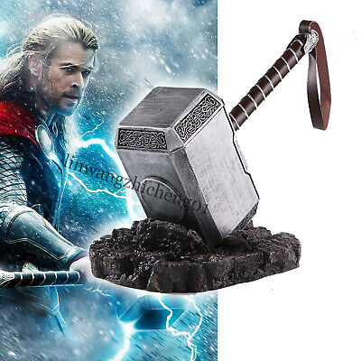 2019 High-end 1:1 Full Solid Avengers Thor Hammer Replica Prop Resin Cosplay