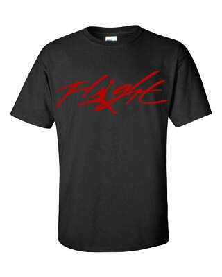 Michael Jordan Flight T-Shirt - Many Options of Colors on a Black Shirt - S-5XL