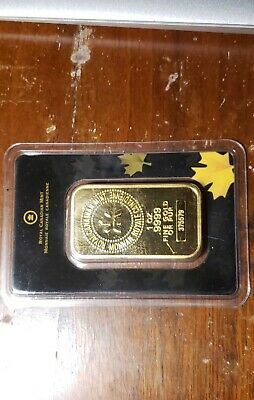 1oz Gold Wafer - ROYAL CANADIAN MINT