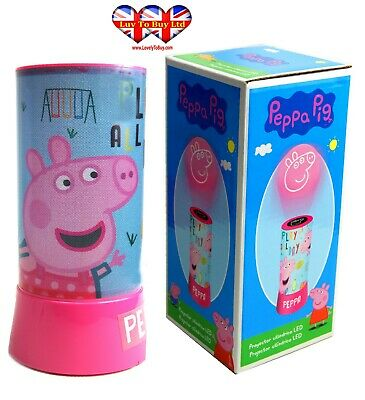 Peppa Pig LED Cylinder Projector, Night Light,Official Licenced.