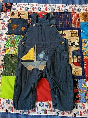 Marks and Spencer M&S Baby Boy Cord Dungarees Bundle 3-6 6-9 Months