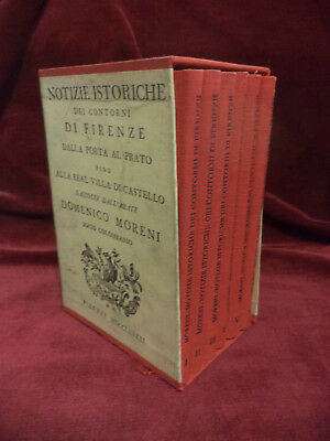 NOTIZIE ISTORICHE FIRENZE - 6 volumi - Copia Anastatica 1972 Multigrafica Ed