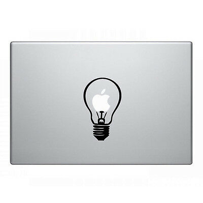 Light Bulb Vinyl Decal Sticker Skin For Apple MacBook Pro Air Mac DIY Decoration