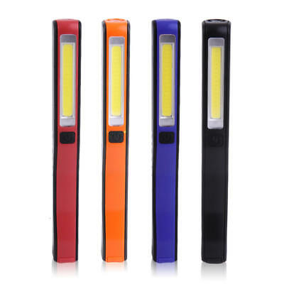 LED COB Rechargeable Magnetic Pen Clip Hand Torch Work Light Inspection Lamp CN
