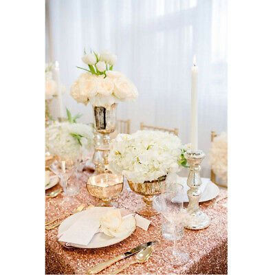 Glitter Sequin Rectangular Sequin Table Cloth For Wedding Party Decoration