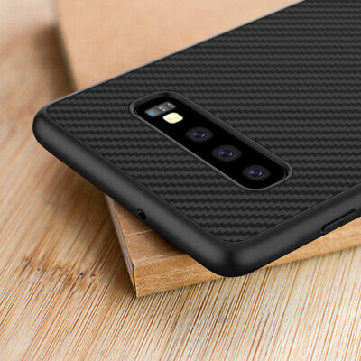 For Samsung Galaxy S10 Plus S10E Synthetic Carbon Fiber Texture Back Case Cover