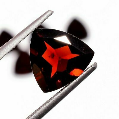 Natural Stone Mozambique Garnet Trillion AAA+Quality Loose Gemstone 18.15 Carats