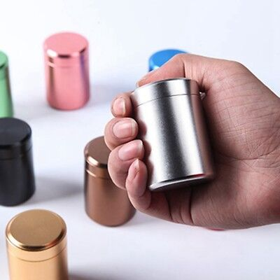 Mini metal Airtight Canister Tea Box Powder Caddy Container 4.5*6.5CM