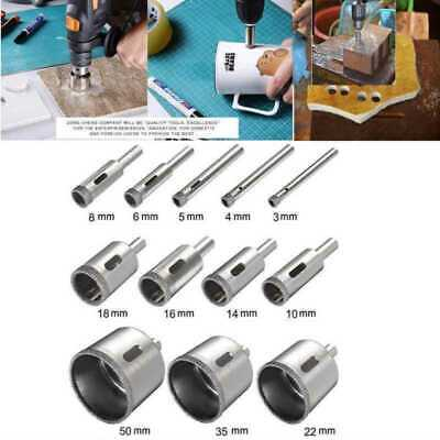 12pcs Diamond Hole Saw Drill Bit Hollow Core Set Glass Extractor Remover Tool US