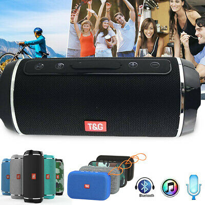 Tragbar Wireless Bluetooth Lautsprecher 3D Stereo Boombox Subwoofer AUX FM SD