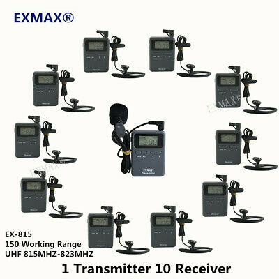 UHF Wireless Tour Guide System For Horse Riding Teaching 1Transmitter 10Receiver