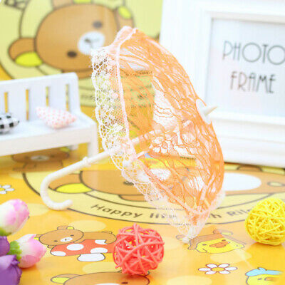Doll Girl Mini Lace Umbrella Play Toy Gift Dollhouse Furniture Accessories Call