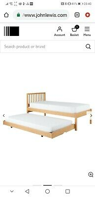 John Lewis,  Morgan Guest Bed Trundle without Two Open Spring Mattresses, Oak