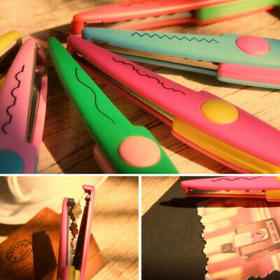 6pcs Creative Fabric Decorative Border Pinking Shears Scissors  Scallop Wavy New
