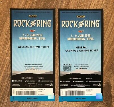 ROCK am RING 2019 Weekend Festival Ticket inkl. General Camping & Parking Ticket