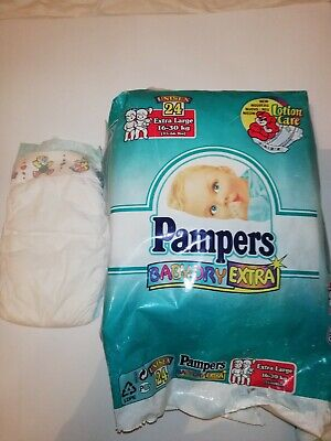 Vintage X1 Pampers babydry  Size Extra large diaper Abdl biggest Pampers diaper