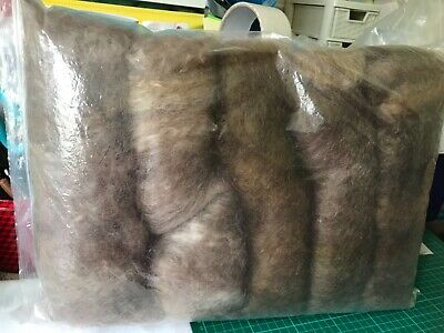 300gm  H/dyed ,carded Leic Longwool Browns