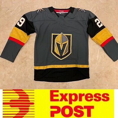 Ice Hockey Vegas Golden Knights jersey, #29 FLEURY jersey, AU stock, Express pos
