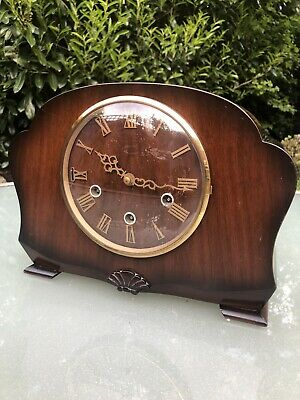 Smiths Antique Art Deco Westminster Chime Mantel Clock..working!!