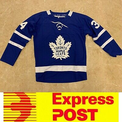 Ice Hockey Toronto Maple Leafs jersey, #34 Matthews jersey, AU stock, Express po