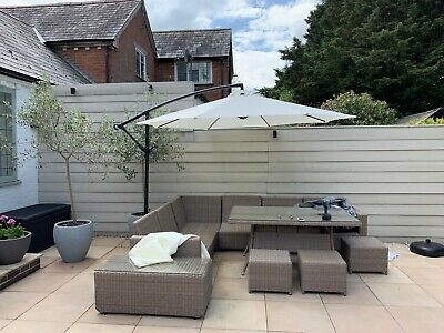 Garden Parasol Sun Shade Patio Banana Cantilever Hanging Umbrella 3m