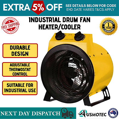 Electric Industrial Fan Heater Workshop Dryer Blower Floor Carpet Shed Garage