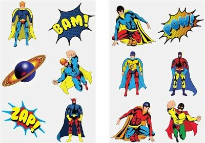 Job lot of 576 Childrens Super Hero Temporary Tattoos Kids Loot Party bags