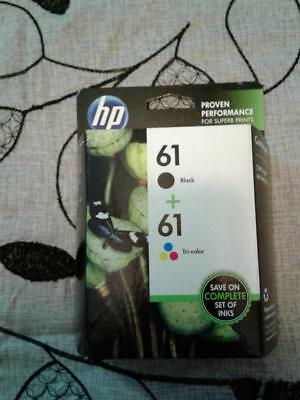 HP 61 Black/Tri Color Ink Cartridge Combo Pack (NOT IN RETAIL BOX)