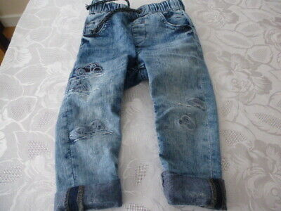 Next boy car motif  trousers size 1.5 - 2 years used
