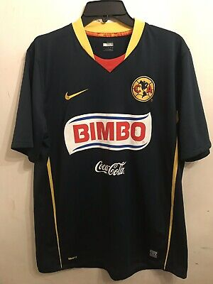 fe9f89c5e Nike Club America Soccer Jersey 2009 Away Bimbo Authentic Blue Men's L  vintage