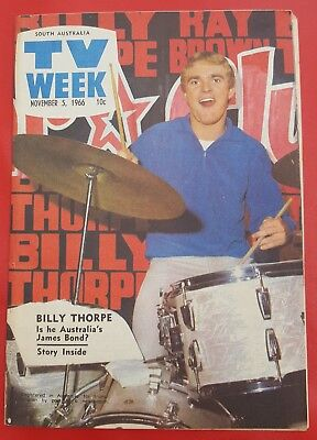 ♫ BILLY THORPE 1966 cover and great article Australian TV Week - complete  ♫