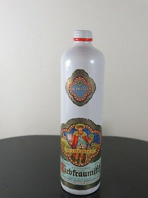 Bright Graphic Stoneware Bottle German Beameister 1973