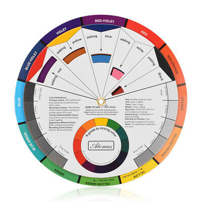 Portable Color Wheel Mixing Guide for Tattoo Makeup Hobby Painting Supply Unique