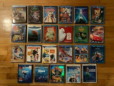 **You Choose** Disney, Pixar, And Kids Blu-Ray Movies, Dvds, Or Slip Covers