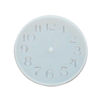 CEMENT CONCRETE SILICONE Mold DIY Craft Clock Making Clay Plaster