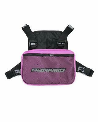 Black Pyramid Fashion Chest Front Pack Pouch Holster Rig, Pink, OS